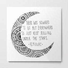 Kerouac Mandala Moon Metal Print