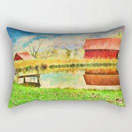 Farm Reflections Rectangular Pillow