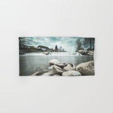Waterfall on Sora river, Medvode Hand & Bath Towel