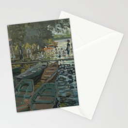 Claude Monet - Bathers at La Grenouillère Stationery Cards