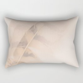 Two feathers on a soft pastel background - beautiful couple Rectangular Pillow