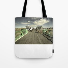 The pier at St Annes on sea Tote Bag