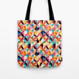 Retro Vintage Geometric Circles Pattern Tote Bag