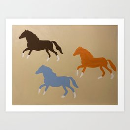 Triple Cantor Art Print