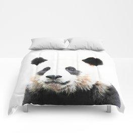 Panda Watercolor Panda Bear Portrait Comforters