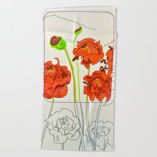 Perspective on Flowers Beach Towel