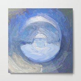 Abstract Blue Mandala 1767 Metal Print