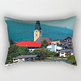 A village in autumn season Rectangular Pillow