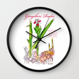 Ginger Root Wall Clock