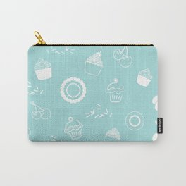 Cupcake Pastry Background - Turquoise 07 Carry-All Pouch