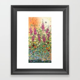 Fireweed in Melon Framed Art Print