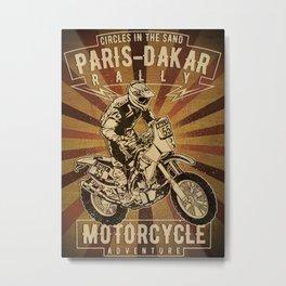Paris Dakar Rally Metal Print