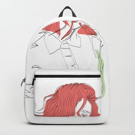 One-Line Art Woman Short Hairstyle 02 Backpack