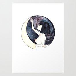 I think she belongs to the moon Art Print