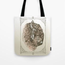 Buffalo Portrait Tote Bag