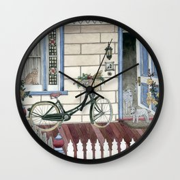 Staying at home Wall Clock