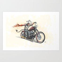 Devil's Ride Art Print