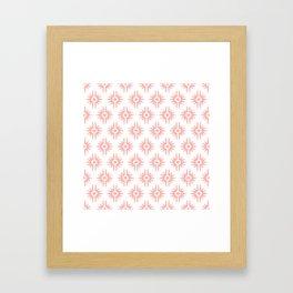 Mid Century Modern Bang Pattern 272 Peach Framed Art Print