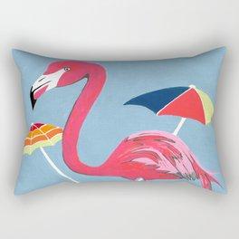 Beach Flamingo Rectangular Pillow