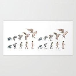 Darwin's Inspiration Mug Art Print
