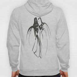 Dervish Whispers Minimalistic Line Drawing Hoody