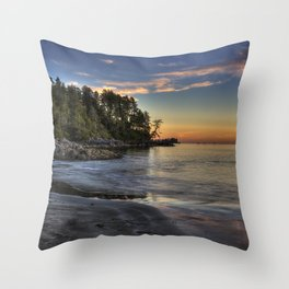 Sunset of Seclusion Throw Pillow