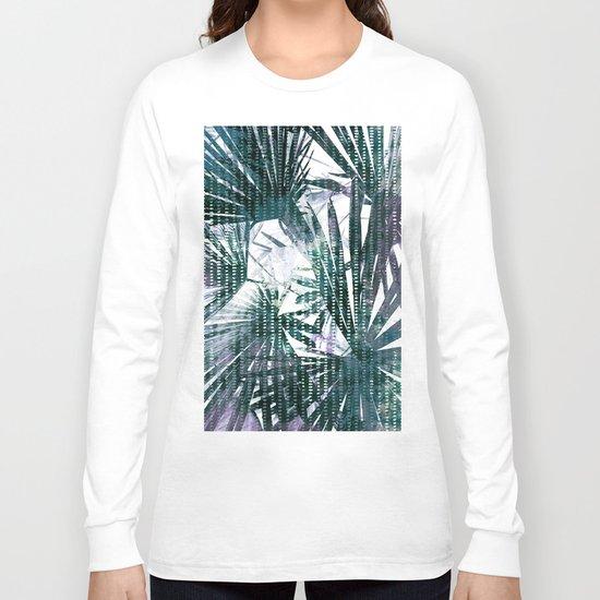 Fan Palms Theme Long Sleeve T-shirt