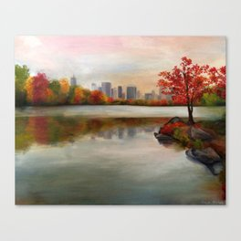 Central Park in the Fall (LARGER SIZES) Canvas Print