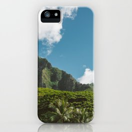 Hawaiian Mountain iPhone Case