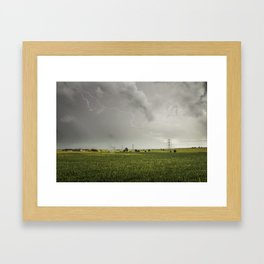 Lighting Strike Framed Art Print