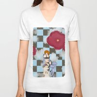lonely V-neck T-shirts featuring Lonely by Jack Bockover