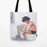 grantaire Tote Bags featuring Grantaire by icarusdrunk