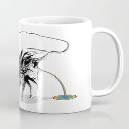 Rat and rainbow. Black on white background-(Red eyes series) Coffee Mug