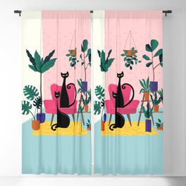 Sleek Black Cats Rule In This Urban Jungle Blackout Curtain