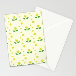 sweet happy yellow flowers seamless pattern Stationery Cards