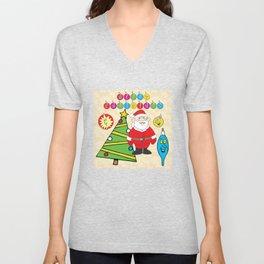 Santa & the Tree Unisex V-Neck