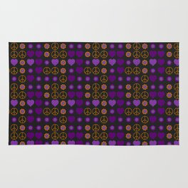 Halloween Peace Holiday Weave Rug
