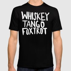 Whiskey Tango Foxtrot x WTF MEDIUM Mens Fitted Tee Black