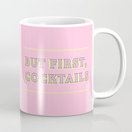 Pastel Pink Party Cocktails Coffee Mug