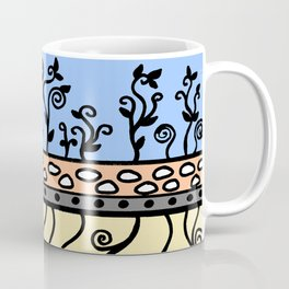 Strong Roots for Growth - Blue Mustard Yellow Coffee Mug