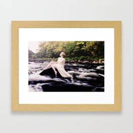 To Be One With the River Framed Art Print