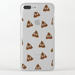 Cute smiling poop emoji Clear iPhone Case
