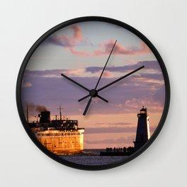 Ludington,MI Sunsets Wall Clock