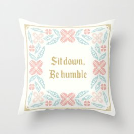 Vintage Inspired Throw Pillow with Rap Lyrics by Kendrick Throw Pillow