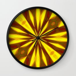 Bold Red, Green and Gold Repeating Starburst Wall Clock