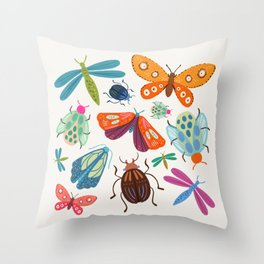 Bug Collective Throw Pillow