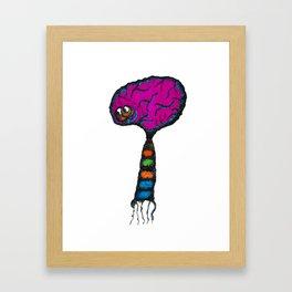 The brains of the family. Framed Art Print