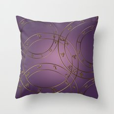 Zodiac signs and circles pink Throw Pillow