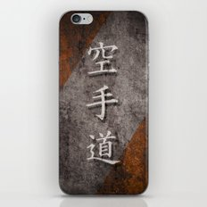 Karate-Do Rusty Canvas iPhone & iPod Skin