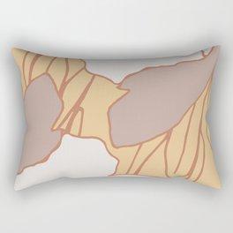 Macro Abstract Flower Earth tones Rectangular Pillow